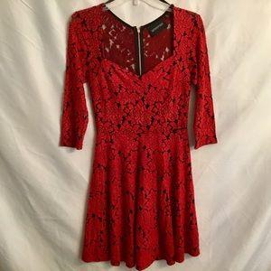 Minkpink Red Rose Mini Skater Dress